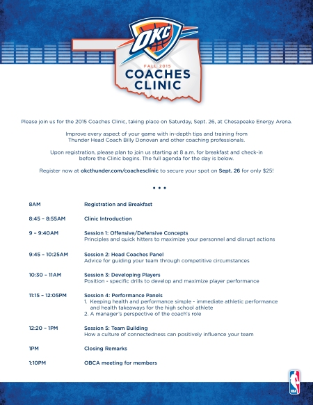 Coaches Clinic 2015